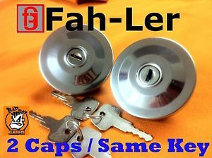 Polished Stainless Steel Locking Fuel Cap Mini Cooper Twin Tank