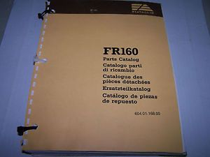Fiat Allis FR160 Wheel Loader Parts Catalog