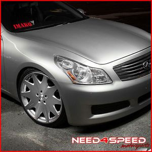 "20"" Infiniti G35 Sedan MRR HR3 Silver VIP Concave Staggered Rims Wheels"