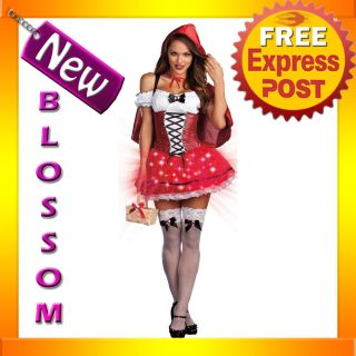 C562 Little Red Riding Hood de Light Light Up Adult Fancy Dress Party Costume