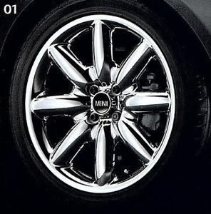 "Mini Cooper 17"" R85 s Lite Chrome Plated Rim Wheel New"