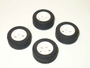 Lego Technic Large Rubber Tire Wheel Car Truck Racing White Rim RC NXT Axle