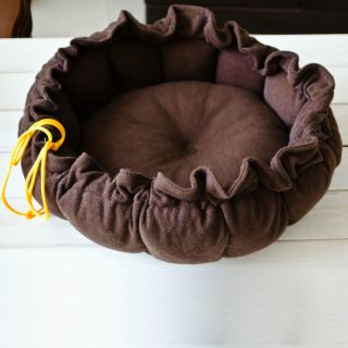 New Brown Pumpkin Soft Pet Dog Cat Indoor House Nest Kennel for Small Dog