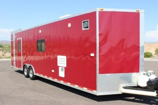 J LS Cargo Express Enclosed Trailer Race Car Hauler Utility Great Condition AZ
