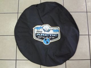 Jeep Wrangler New Arctic Addition Spare Tire Cover Black Denim Mopar Factory