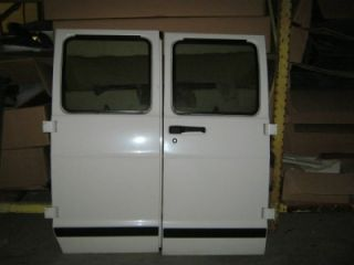 94 02 Dodge RAM Van OE RH LH White Side Cargo Van Doors with Glass