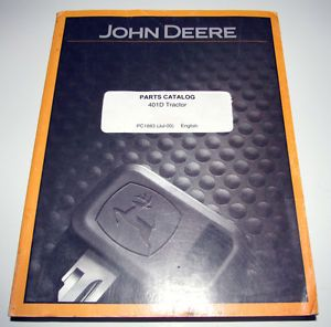 John Deere 401D Tractor Loader Backhoe Parts Catalog Manual Book PC1883 JD