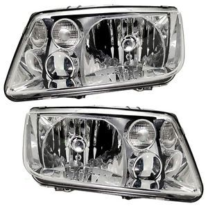 New Pair Set Headlight Headlamp Housing Assembly Dot 99 02 Volkswagen Jetta
