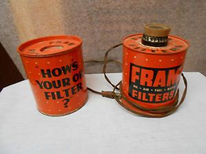 Vintage Fram Oil Filter Lighter Ashtray Dealer Display