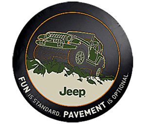 2012 Jeep JK Wrangler New Spare Tire Cover Pavement Optional Mopar 82210886AB