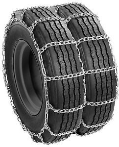 Semi Tractor Truck Snow Dual Tire Chains 285 75R24 5