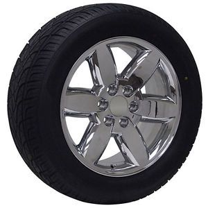 "20"" inch GMC Truck Chrome Rims Wheels Tires Package Yukon Denali Sierra"