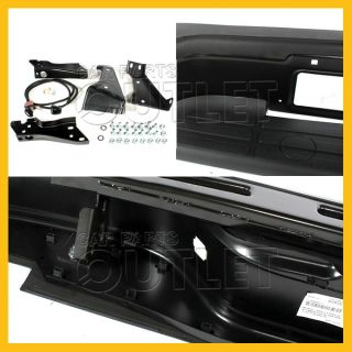 99 07 Chevy Silverado Stepside Rear Step Bumper Pads Bracket License Lamp Black