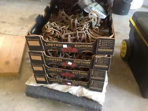 Truck Tractor Trailer Semi Class 8 Bus Snow Tire Chains Complete Set