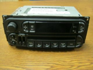 03 05 Dodge RAM Truck Caravan Intrepid Jeep Wrangler Am FM CD Player Radio