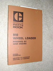 Cat Caterpillar 910 Parts Manual Book Catalog Wheel Loader 80U6735 Up 3204 Eng
