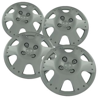 "4 PC Set 14"" Toyota Echo 00 02 Silver Hubcaps Wheel Covers Rim Skins Hub Cap"