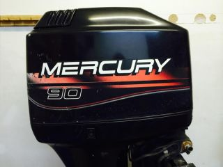 1998 Mercury 90 HP 2 Stroke Outboard Motor Boat Engine 75 60 Johnson Honda