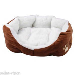 Small Luxury Soft Indoor Pet Dog Cat Puppy Bed Sofa House Mat Cushion Fleece