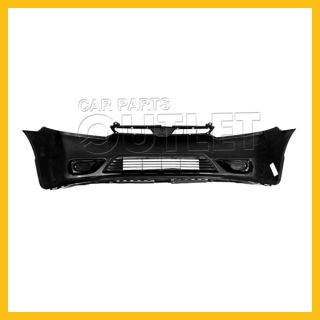 06 08 Honda Civic Front Bumper Facial Cover Raw Matte Black Fascia Plastic Coupe