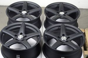 17 5x114 3 Matte Black Wheels Ford Fusion Taurus Mazda 3 5 6 626 mazdaspeed Rims