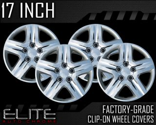 "2010 2011 Toyota Camry 17"" Chrome Clip on Hubcaps"