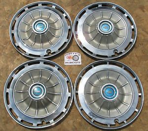 "1962 Chevy Impala 14"" Wheel Covers Hubcaps Set of 4  Look"