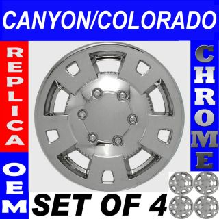 "4 PC Set Chevy Colorado Truck 15"" Chrome Wheel Skins Hubcaps Covers Hub Caps"