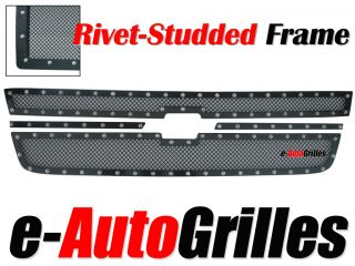 Chevy Silverado 1500 Black Mesh Rivet Billet Grille
