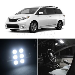 11x White SMD LED Light Interior Bulb Package Deal for 2011 2012 Toyota Sienna
