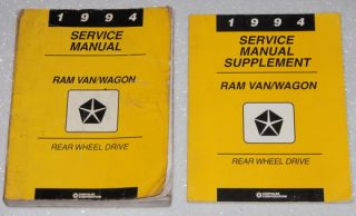 1994 Dodge RAM Van Service Manual B 150 B 250 B 350 Shop Repair CNG 4 Vol Set