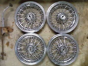 Set of 4 Wire Wheel Hubcaps Hub Caps 15'' Chevy Pontiac Oldsmobile Buick Caprice