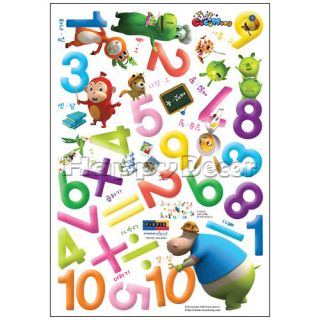 Numbers Kids Room Wall Decals Stickers Peel N Stick 307