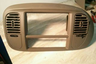 97 2003 Ford F150 Expedition Eddie Bauer Tan Radio Heater Dash Trim Bezel