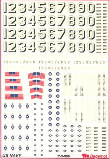 Begemot Decals 1 350 United States Navy Flags Hull Aircraft Markings