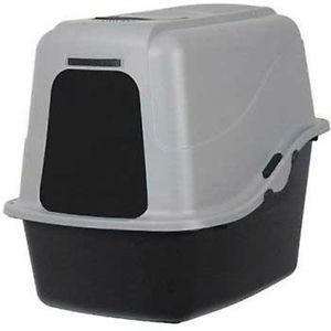Large Petmate Hooded Cat Litter Pan Set Enclosed Litter Box