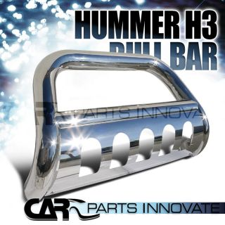 "2006 2010 Hummer H3 H3T 3"" Stainless Steel Bull Bar Grill Push Guard"