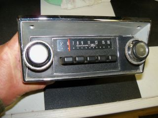 Working 1977 Ford Truck Am Radio Serviced with Knobs and Bezel