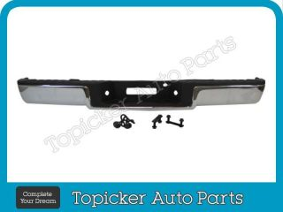New Rear Step Bumper Assy Chrome Pad Lic Brackets 06 08 Ford F150 Styleside w O