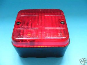 Square Rear Fog Lamp Light Surface Flush Mounted for Trailers Caravan Etc