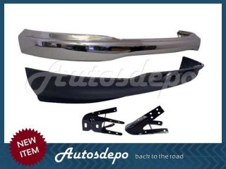 99 03 Ford F150 F250LD Front Bumper Chrome Valance Frame Bracket w O Tow Hole