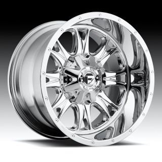 22 inch 22x14 Fuel Throttle Chrome Wheel Rim 6x135 Lifted F150 Expedition