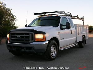Ford F350 Utility Service Truck 7 3L Diesel 250HP 9' Bed A T Cold A C