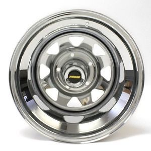 15x12 Chrome 8 Spoke Series 48 Ford F150 Bronco Jeep Prime Wheel Steel