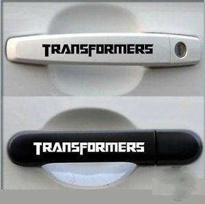 4pcs Transformers Car Door Handle Door Knob Vinyl Decals Stickers Car Decoration