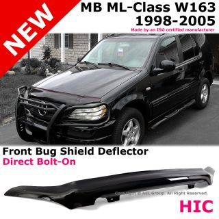 Mercedez Benz W163 ml Class Front Hood Bug Shield Deflector Protector Smoke