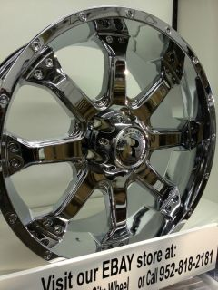 20 inch Chrome Raceline Assault 991 Wheels Ford F150 F 150 Expedition 6x135
