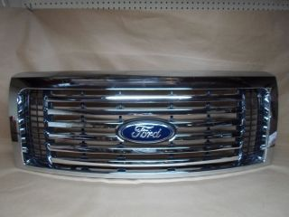 10 12 Ford Truck F150 Grille Used Chrome w Black 10 11 2010 2012