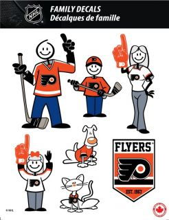 NHL Philadelphia Flyers Stick People Family Decals Full Color Vinyl Decals