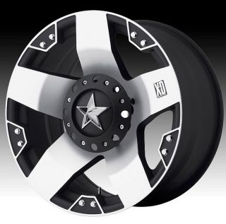 20 inch XD Rockstar XD775 Black Machined Wheels Rims 6x5 5 FJ Cruiser Hummer H3